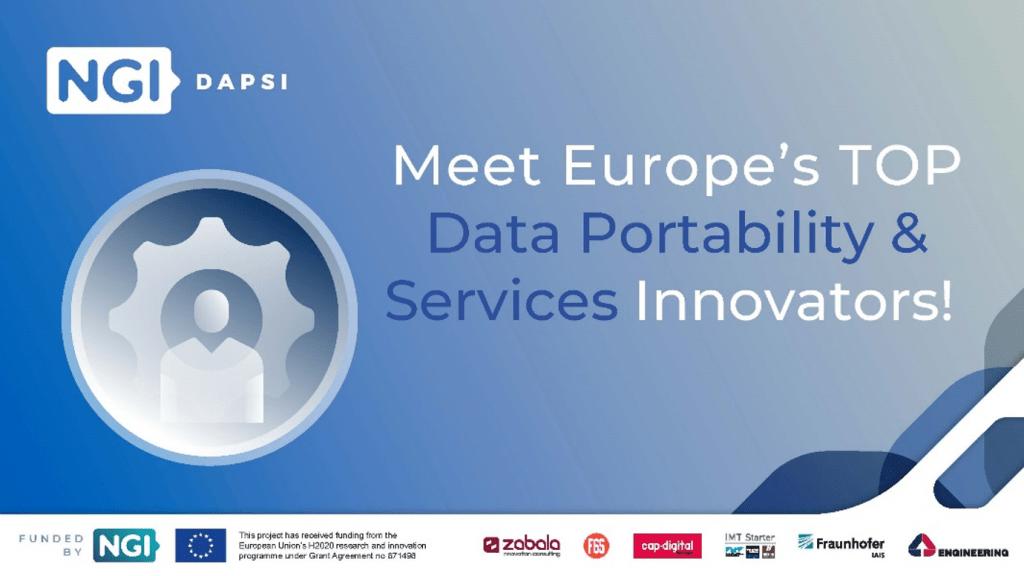 NGI DAPSI - Meet Europe's top data portability & services innovators' projects!