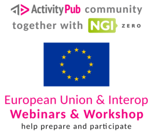NGI breaks down walls: decentralize social networking with ActivityPub @ Online event