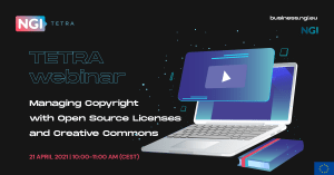 TETRA Webinar: Managing Copyright with Open Source Licenses and Creative Commons @ WEB-STREAMED